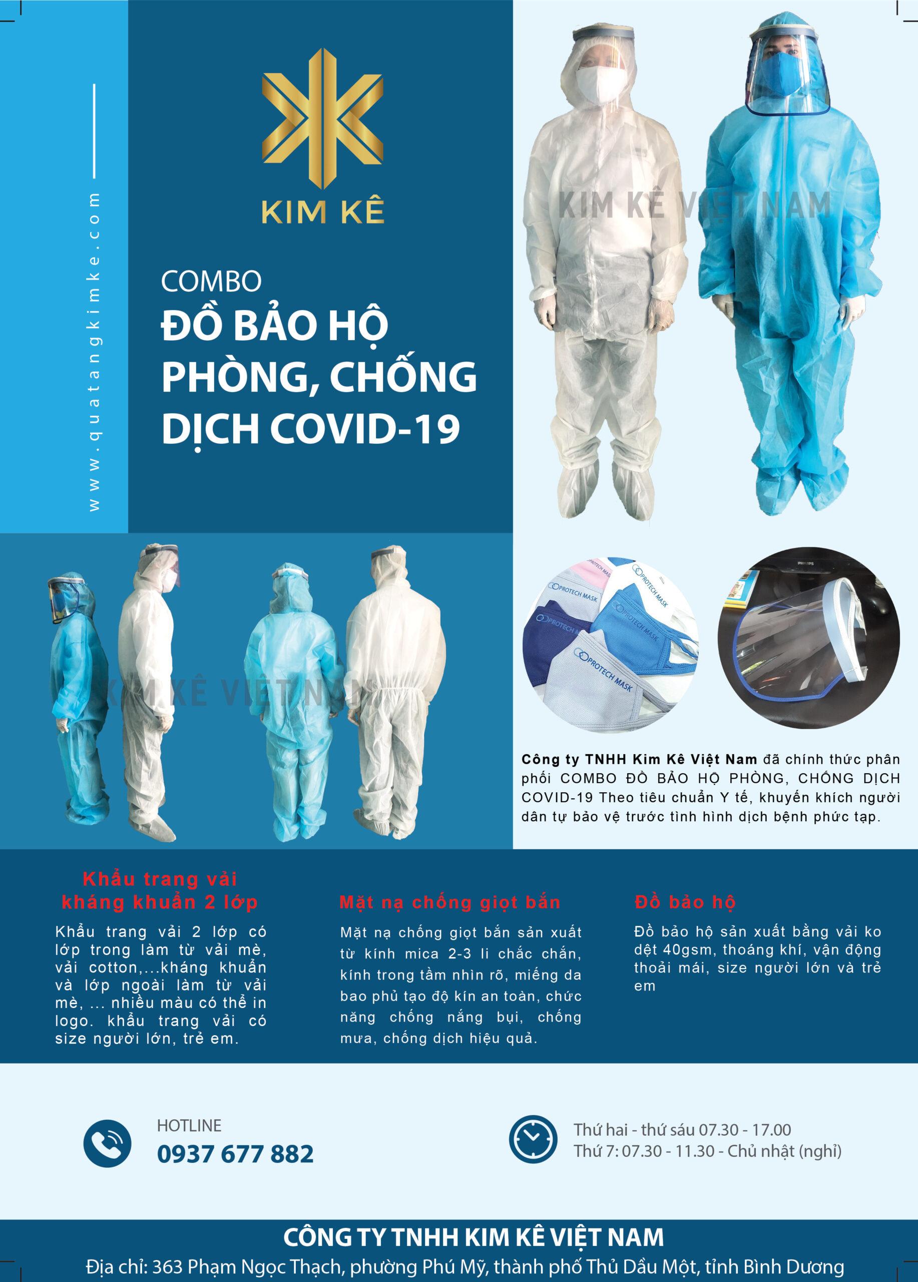 Đồ bảo hộ chống dịch 4 món và 7 món số lượng lớn – Kim Kê Việt Nam